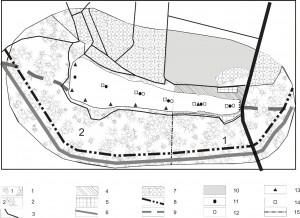 Рис. 1. Карта-схема района работ и расположения точек опробования